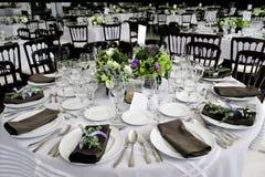 Hochzeitstabelle Stockbilder