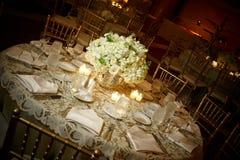 Hochzeitstabelle Stockfotografie