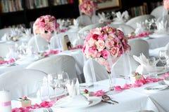 Hochzeitstabelle Stockbild