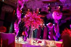 Hochzeitstabelle Lizenzfreies Stockbild