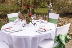 Hochzeitstabelle, die 4 einstellt Lizenzfreies Stockfoto