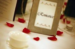 Hochzeitstabelle. flacher Fokus Stockbilder