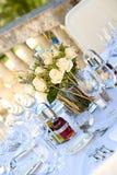Hochzeitstabelle setting2 Stockbilder