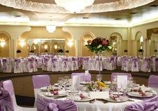 Hochzeitstabellenanordnung Stockfotos