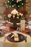 Hochzeitstabelleneinstellung Stockfotografie