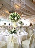 Hochzeitstabelleneinstellung stockfotos