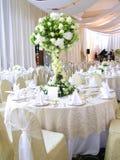 Hochzeitstabelleneinstellung Lizenzfreie Stockfotografie