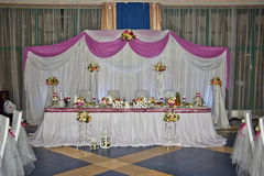 Hochzeitstafel Lizenzfreie Stockbilder
