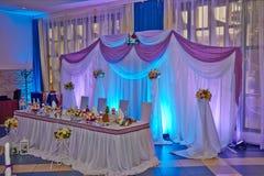 Hochzeitstafel Lizenzfreies Stockbild