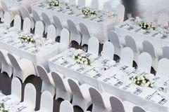 Hochzeitstafel Lizenzfreie Stockfotografie