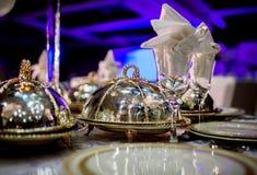 Hochzeitstafel-Anordnung Stockbilder