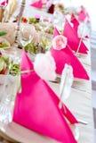 Hochzeitstafel-Dekorationen Stockbild