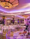 Hochzeitstafeldekor Stockfoto