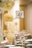 Hochzeitstafeldekor Stockfotos