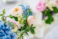 Hochzeitstafeldekor Lizenzfreie Stockfotos