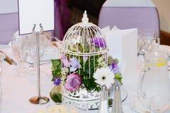 Hochzeitstafeldetails Stockfotografie