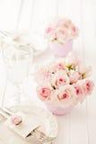 Hochzeitstafeleinstellung Lizenzfreie Stockfotos