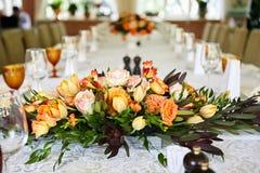Hochzeitstafelgedecke Lizenzfreie Stockfotografie