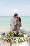 Hochzeitstag auf dem Strand Stockfotografie