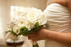Hochzeitstag-Blumenstrauß Stockfotografie