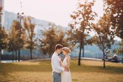 Hochzeitstag in Budapest Stockfotos