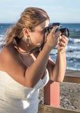 Hochzeitstag in Meer Stockbild