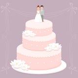Hochzeitstorte 8 stock abbildung