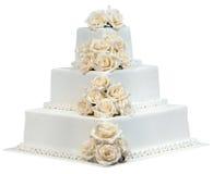 Hochzeitstorte-Ausschnitt Lizenzfreie Stockbilder