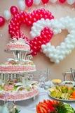 Hochzeitsverzierung von den Ballonen Lizenzfreies Stockfoto