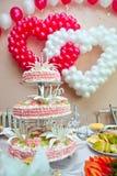Hochzeitsverzierung von den Ballonen Stockfotografie