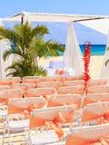 Hochzeitsvorbereitung auf mexikanischen Strand Lizenzfreie Stockfotografie