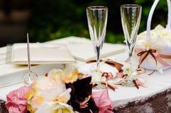 Hochzeitsweingläser Lizenzfreies Stockfoto