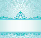 Hochzeitsweinlese Türkis-Einladungsdesign Stockbilder