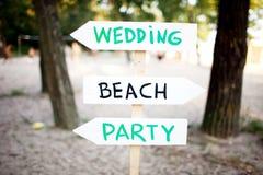 Hochzeitszeichen Lizenzfreies Stockfoto