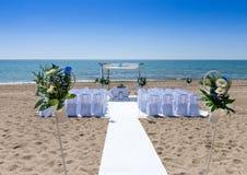 Hochzeitszeremonie auf dem Strand Lizenzfreies Stockbild