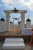 Hochzeitszeremonie auf Strand Stockfotografie