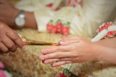 Hochzeitszeremonie in Thailand Stockfotos