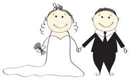 Hochzeitszeremonie. Vektorabbildung. Lizenzfreie Stockfotos