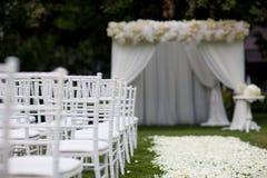 Hochzeitszeremoniedekorationen Stockbild
