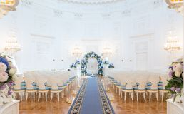 Hochzeitszeremoniehalle stockfoto