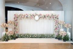 Hochzeitszeremoniehintergrund Stockfotografie