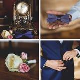 Hochzeitszubehör eingestellt für Bräutigam Stockbild