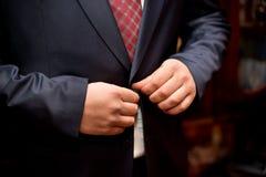 Hochzeitszubehör für Bräutigam Stockfoto