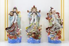 Hock Lok Siew eller Fu Lu Shou, tre gudar av kines arkivbild