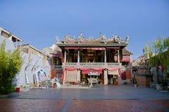Hock Teik Cheng Sin Temple eller Poh Hock Seah, som lokaliseras i armenisk gata, George Town, Penang, Malaysia Royaltyfri Foto
