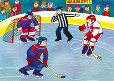 Hockey. Is going to score a goal against an opponent Stock Image