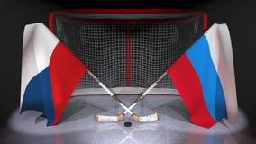 hockey Royalty-vrije Stock Afbeeldingen