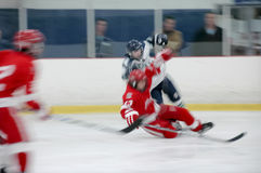 Hockey - acción en el movimiento 001 Fotografía de archivo