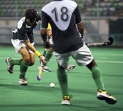 Hockey In Action. Hockey player in action Royalty Free Stock Photos