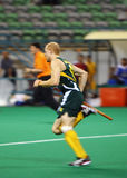 Hockey In Action. Hockey player in action (Motion blur effect Royalty Free Stock Images